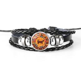 $enCountryForm.capitalKeyWord Australia - Fashion Style 12 Zodiac Dog Time Gem Glass Cabochon Charm Bracelets & Bangles For Women Men Silver Chain Adjustable Jewelry Female Male Gift