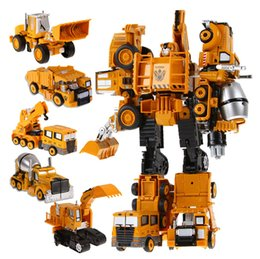 model cannons wholesale Australia - Hot selling engineering car alloy deformation car children's alloy model toy robot