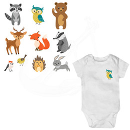 $enCountryForm.capitalKeyWord UK - 9 Pattern combo Baby cartoon animal stickers 19*19cm iron on patches DIY T-shirt hoodie Grade-A Thermal transfer