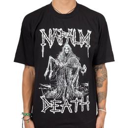 $enCountryForm.capitalKeyWord NZ - Authentic DEATH Band Reaper Skeleton Metal T-Shirt S-3XL NEWLoose Black Men T shirts Homme Tees