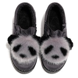 Home plusH slippers online shopping - Winter Warm Home Slippers Women House Shoes Soft Ladies Bedroom Floor Plush Indoor Slippers New lovely Panda Female Cotton Slipper