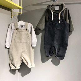 $enCountryForm.capitalKeyWord NZ - Fall INS Newest Toddler Baby Boys Jumpsuits Blank Denim Cotton Sleeveless Autumn Organic Tatting Cotton Newborn Overalls Rompers Onesies