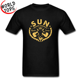 quick electronics NZ - Vintage Sun Records Hardcore Guitar T Shirts Electronic Trance Techno Popular Tshirt For Men Father's Day Best Gift