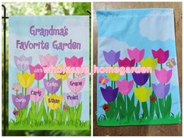 Banner Gift Australia - Polyester Grandma Garden Flags Flowers Garden Flag Mothers Gifts Flags 30*45cm Grandmothers favorite garden Decoration Banner 50pcs lot