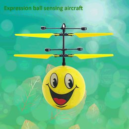 rc helicopter big toys NZ - Hand Induction Flying Facial Expression Toys Mini RC drone Flying RC Helicopter Aircraft drone for Kid New Year Christmas Gift