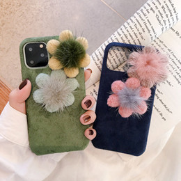cloth iphone Australia - 3D Plush Cloth Flower butterfly Knot Phone Case For iPhone 11 Pro ProMax Cover For iPhone11 X XS Max 8 7 Case