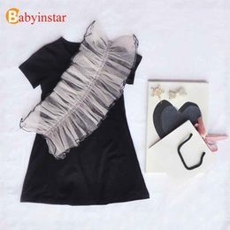 $enCountryForm.capitalKeyWord Australia - Babyinstar Baby Girls Clothing 2019 New Summer Dress Sequins Irregular Ruffles Toddler Children Outfit Kids Dresses For Girls MX190725
