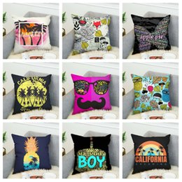 printed sofa cloth Australia - new 45*45cm Double sided 3D digital printing cushion cover pillowcase super soft cloth Bedding sofa Pillow Cover aquare pillowcase T2I5237