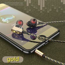 $enCountryForm.capitalKeyWord Australia - Gift Dual speakers earphones Sports headphones bass True stereo Wire headset with Mic for iphone Android without package DHL Free Shipping
