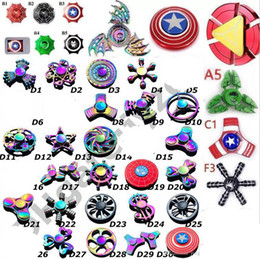 Chinese  new Fidget spinner toys Tri-Fidget Metal Colorful EDC Gyro Superhero Dragon Rainbow hand spinners finger toy 120 types manufacturers