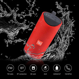 stereo mini speaker usb tf card Australia - TG113 Mini Bluetooth Wireless Speakers Subwoofers Handsfree Call Profile Stereo Bass Support TF USB Card AUX Line In Hi-Fi 1200mah Charge 3