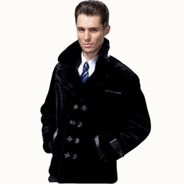 fur suit coat Australia - 2019 Guaranteed Sheepskin Fur Coat Men Genuine 3 Styles Mink Suit Collar Natural Fur Clothing Black Sheepskin Mens Jackets