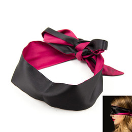 $enCountryForm.capitalKeyWord Australia - Party Game Sexy Soft Silk Satin Eye Mask Shade Blindfold Ribbon Reversible Bondage Patch Wedding Party Favor Decoration