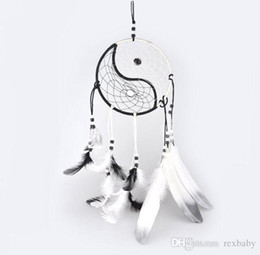 $enCountryForm.capitalKeyWord UK - Hand Woven Dream Catcher Chinese Traditional Tai Chi Style Wind Chimes Dreamcatcher Car Decoration Pendant home decor