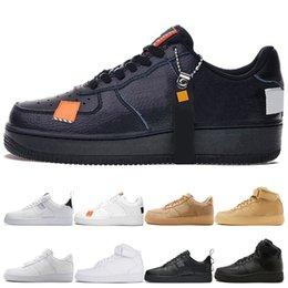 $enCountryForm.capitalKeyWord Australia - Top Hot Triple High Black White Wheat Men Women Sports Sneakers 2019 Low Orange Utility White Black Pack White Skate Sport Shoes 36-45