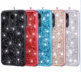 Shiny cell phone caSeS online shopping - Bling Glitter Sparkle TPU PC Hard Case For LG Aristo Aristo3 Alcatel TCL LX Alcatel Veneer Gluing Shiny Cell Phone Back Skin Cover