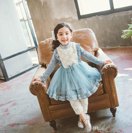 b3273722821 Plus velvet Korean pearl bow girl Knee-Length dress winter bud silk yarn  children s pettiskirt princess dress skirt