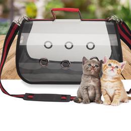 Pet Carrying Bags Australia - Fashion Outdoor Dog Carriers Portable Travel Pet Bags Dog Cat Handbag Carrying Backpack Transparent Shoulder Bag