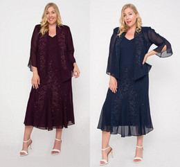 Wholesale bride wedding jacket dress resale online - Burgundy Mother of the Bride Dresses with Jacket Women s Suits Cheap Mother Drses Suits Long Sleeve With Lace Appliqued Wedding Party Gowns