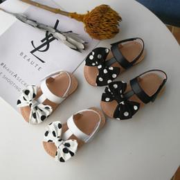 $enCountryForm.capitalKeyWord NZ - Summer kids sandals girls polka dots Bows princess shoes children T-bar hollow breathable flat sandals girls non-slip beach shoes F7344