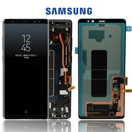 New origiNal touch screeN online shopping - New quot Original AMOLED LCD Display For SAMSUNG Galaxy NOTE8 LCD N9500 N9500F LCD Display Touch Screen Replacement Parts Frame