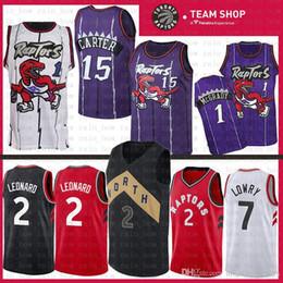 17bcef3ff 2019 New Toronto Jersey Raptors Kawhi 2 Leonard Kyle 7 Lowry Vince 15 Carter  Tracy 1 McGrady Basketball Jerseys