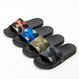 Wholesale Men s Summer Flat Camouflage PVC Slippers Men s New Arrival Non slip Beach Flip Flops Drop Shipping Slides Sandals