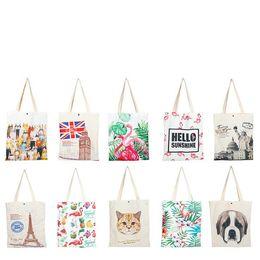 $enCountryForm.capitalKeyWord Australia - Fashion Ladies Girls Casual Canvas Shoulder Bag Popular Cotton Linen Environmental Women Travel Cosmetics Shoes Cloth Storage Bag