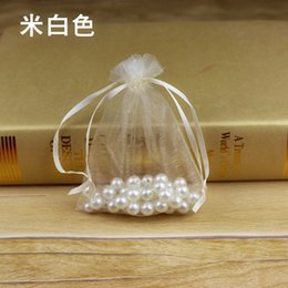 $enCountryForm.capitalKeyWord NZ - 13*18cm Factory Price Oganza Drawstring Bag For Wedding Candy Bag Favor Snacks Gift Wrapping Pouch Foldable Pearl Jewelry Storage Bags
