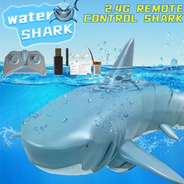 2.4G Remote Control Simulation of Shark Prank Toy, 360 Degree Rotate, Adjustable Speed, 20 Minute Endurance, for Christmas Kid Boy Gift, 2-1 on Sale