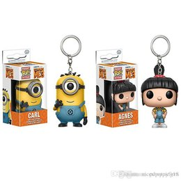 $enCountryForm.capitalKeyWord Australia - T17 POPOToyFirm FUNKO Rick and Morty Despicable Me 3 Minions Agnes POP Pocket Keychains Action Figure Movie Accessories Key Chian Keychain