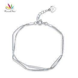 $enCountryForm.capitalKeyWord Australia - Solid 925 Sterling Silver Bracelet Dangle Fashion Bridesmaid Wedding Gift CFB8020 Dropshipping Service Available