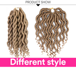 Discount crochet hair 12 inch - 12 Inch Curly Faux Locs Crochet Braids Hair Extensions Goddness Synthetic Braiding Hair For Women(#27)