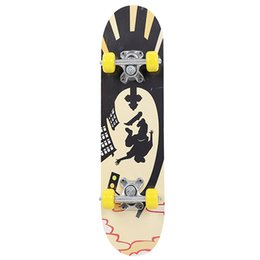 slide boards NZ - Maple Wood Extreme Sports Popular Skate Board Fashionable Single Warping Slide Teenagers Complete Skateboard Four Wheel Scooter