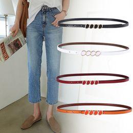 bd328af02 New Designer Skinny Thin Strap for Ladies Girls Genuine Leather Belts For Women  Dress Pants Jeans Belt Female Waist Belt with Gold Buckle
