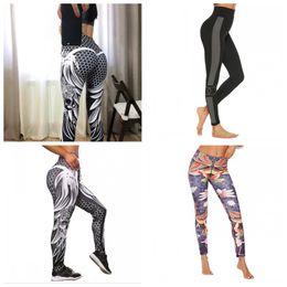 04103d19c1851 Hip Lifting Leggings Yoga Pants Sports Trousers Women Skinny Ventilation  Colors Mix Big Code Fashion 18lx f1