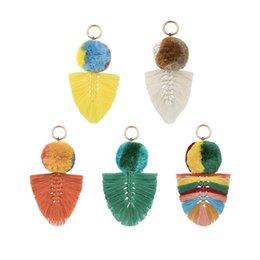 $enCountryForm.capitalKeyWord Australia - new Bohemian women's key chain 4 layers big tassel key chain ring cotton ball bag hanging pendant for women gift