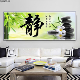 chinese calligraphy paintings NZ - QIANZEHUI,DIY Diamond Embroidery,Chinese calligraphy Full rhinestone 5D Round Diamond painting cross stitch,needlework