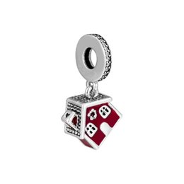 $enCountryForm.capitalKeyWord Australia - Christmas Gift Authentic 925 Sterling Silver Cosy Christmas House Dangle Charm Beads, Crystal & Red Enamel Fit Pandora Bracelet DIY Jewelry