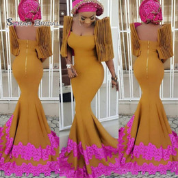StyleS gownS online shopping - 2020 Vintage Plus Size Mermaid Lace Prom Dress Vestidos De Novia Formal Party Gown Sexy Wedding Reception Evening Wear Dubai Arabian Style