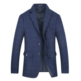 korean jackets sale UK - Plus SIZE 8XL 7XL Hot sale Mens Korean slim fit arrival cotton blazer Suit Jacket blue plus size Male blazers Mens coat Wedding
