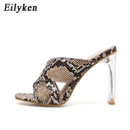 $enCountryForm.capitalKeyWord Australia - Leopard Sandals Sexy Crystal Square heel 11CM 2019 New Womens Perspex Heel Pumps Womens Sandale Party Shoes size 36-42 nm4