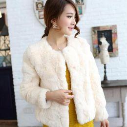 White Faux Fur Shorts Australia - Women faux fur Coats 2019 sheepskin women winter faux rabbit fur coat Plus Size Jackets thick warm sexy short coats M874