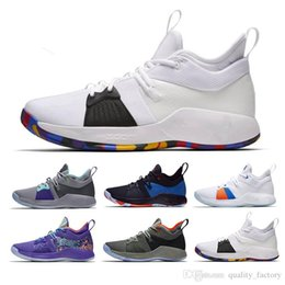 811f8a8d5923 Paul George 2 PG II Basketball Shoes For Cheap Top PG2 2S Starry Blue  Orange All White Black Sports Sneakers 40-46