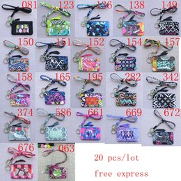 $enCountryForm.capitalKeyWord Australia - 20 pcs NWT cotton zip id case Card Holders and lanyards ,coin purs small wallet
