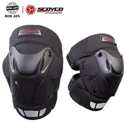 scoyco racing gear Australia - Scoyco Motorcycle Kneepads Protective Racing Shell Knee Pads Gear Off Road Motocross Safety Protector Knee Protective Kneepads