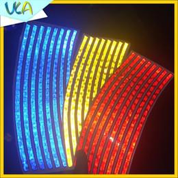 $enCountryForm.capitalKeyWord Australia - 8pcs Strips 21x0.8cm Reflective Tape Car Styling Rim Wheel Tire DIY Decoration Decal for Auto Bicycle Motorcycle Sticker