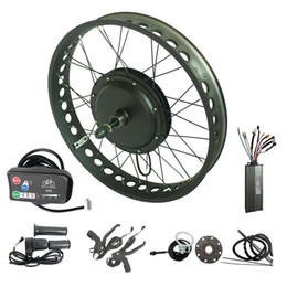 $enCountryForm.capitalKeyWord Australia - 48V 500W Electric bike conversion kit LED display fat tire ebike snow e bicycle kit 20'' 24'' 26'' X 4.0 inch color wheels red green yellow