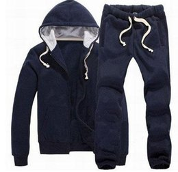 $enCountryForm.capitalKeyWord Australia - Look Winter Men Polo Tracksuits Horse Print Solid Jumpersuit Jogging Sportswear Running Hooded Hoodies Jacket Sweatpants Sweatshirts