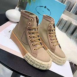2020 Primavera e Outono verão das mulheres de tecido de lona branca lace-up sneakers sapatos casuais borracha plana de alta-top d0588 em Promoiio